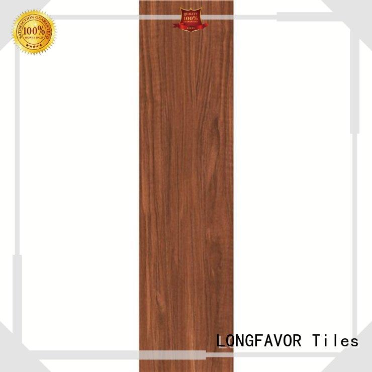 LONGFAVOR suitable ceramic tile wood look planks high quality Shopping Mall