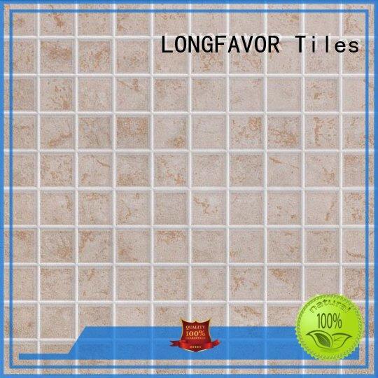 LONGFAVOR wooden 300x300mm Ceramic Floor Tile hardness Hotel