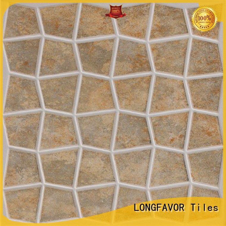 LONGFAVOR wooden 300x300mm Ceramic Floor Tile excellent decorative effect Apartment