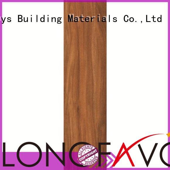 Hot trendy oak wood effect floor tiles black LONGFAVOR Brand