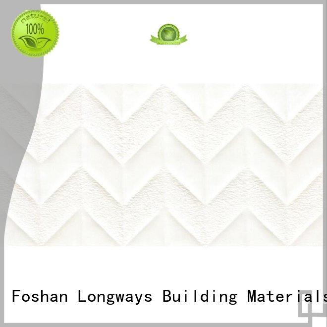 LONGFAVOR wave White Wave Carrara Wall Tile bulk production Walls