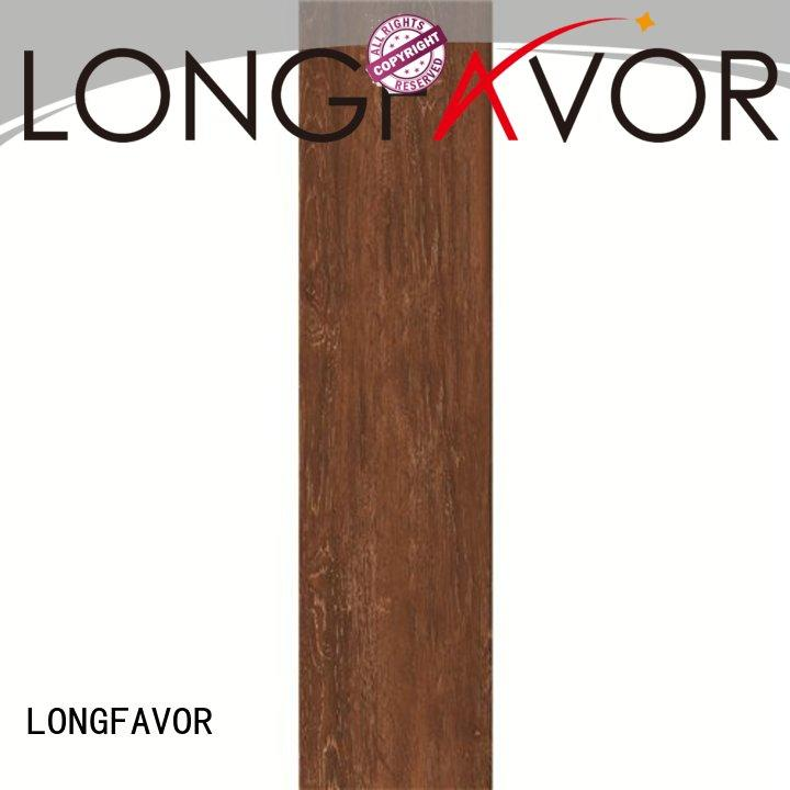 LONGFAVOR incomparable durability dark wood look tile dh156r6a03 airport