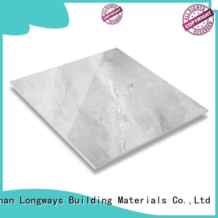 LONGFAVOR Brand ecological gloss diamond marble tile veins factory
