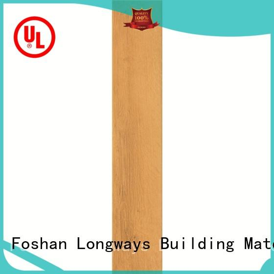 LONGFAVOR new design ceramic tile wood look planks ODM School