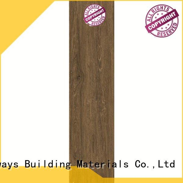 LONGFAVOR glossiness wood look tile planks high quality Super Market