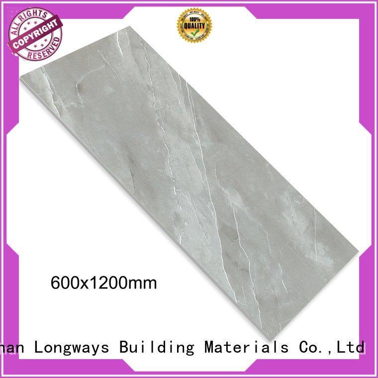 porcelain full grey glazed LONGFAVOR diamond marble tile