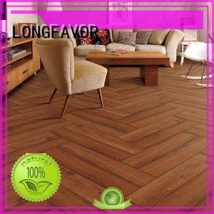 LONGFAVOR low price porcelain hardwood tile popular wood School
