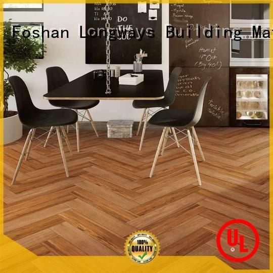 or wood texture floor tiles ODM Hotel LONGFAVOR