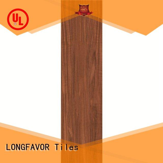 LONGFAVOR wood porcelain hardwood tile free sample Shopping Mall