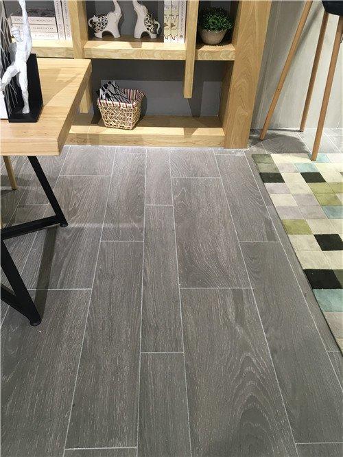LONGFAVOR low price ceramic tile wood look planks popular wood Bookshop-1