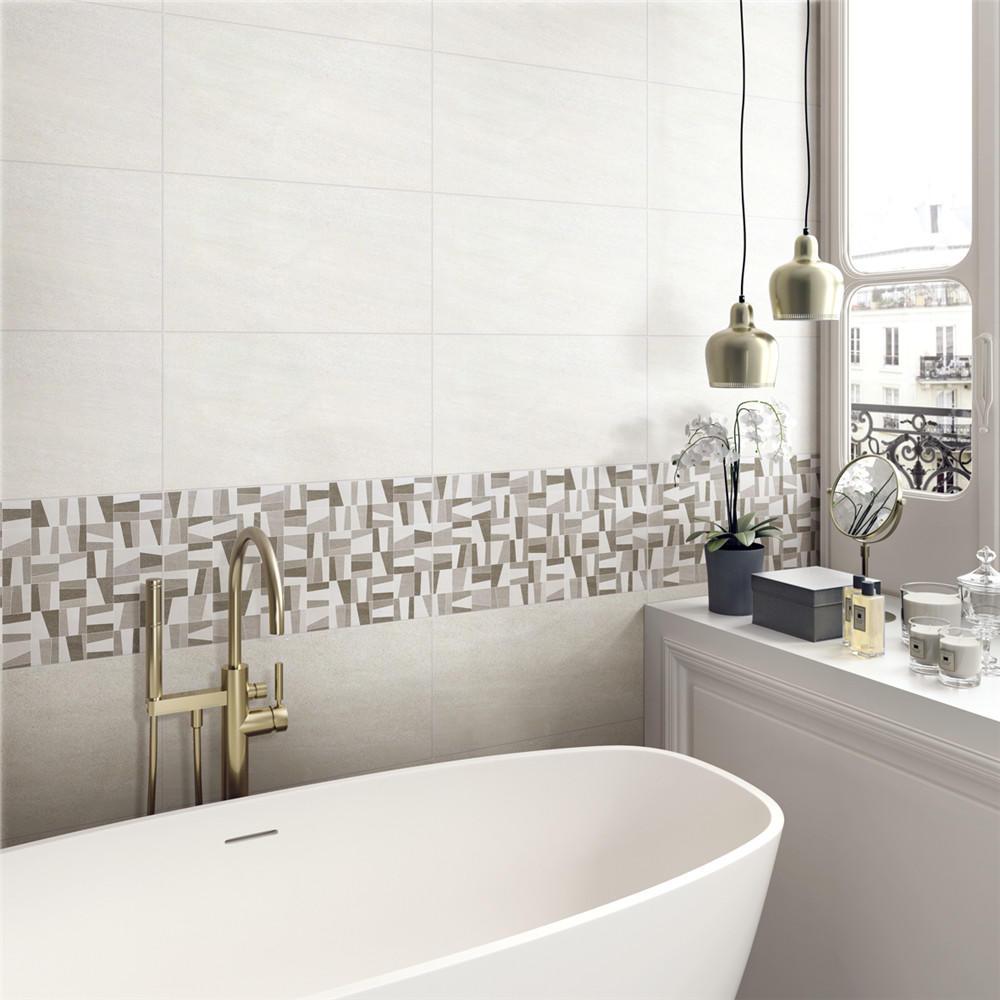 LONGFAVOR white wave 300x600mm Ceramic Wall Tile oem Coffee Bars-1