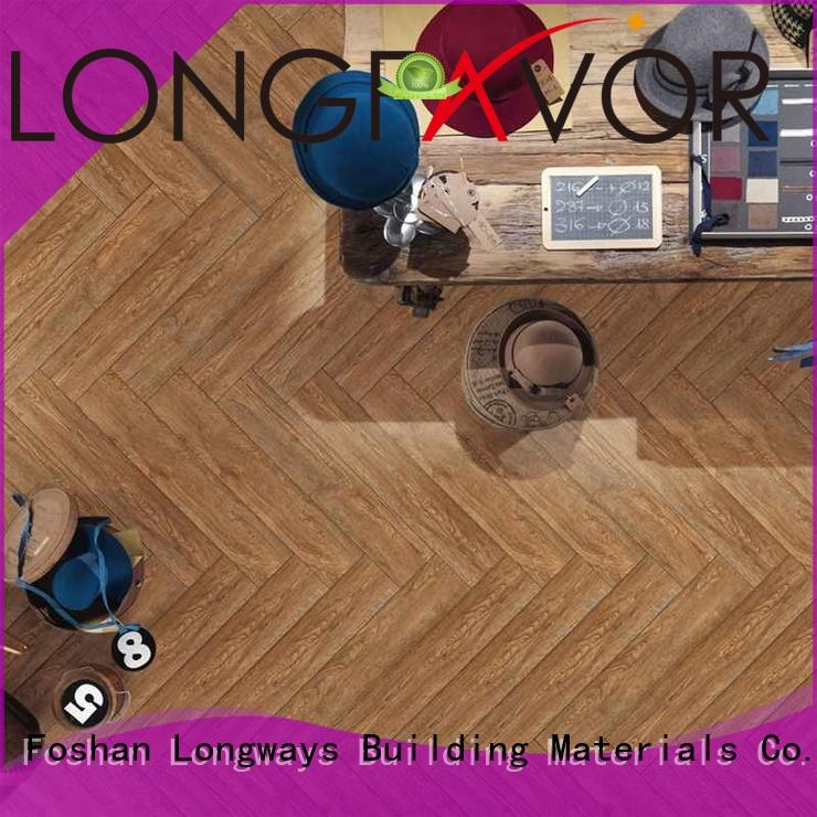 LONGFAVOR dh158r6b34 ceramic tile wood look planks ODM Hotel