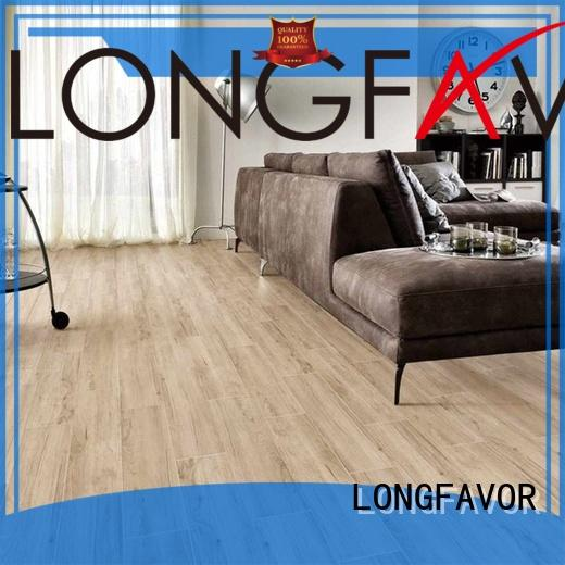 LONGFAVOR suitable ceramic tile wood look planks free sample airport