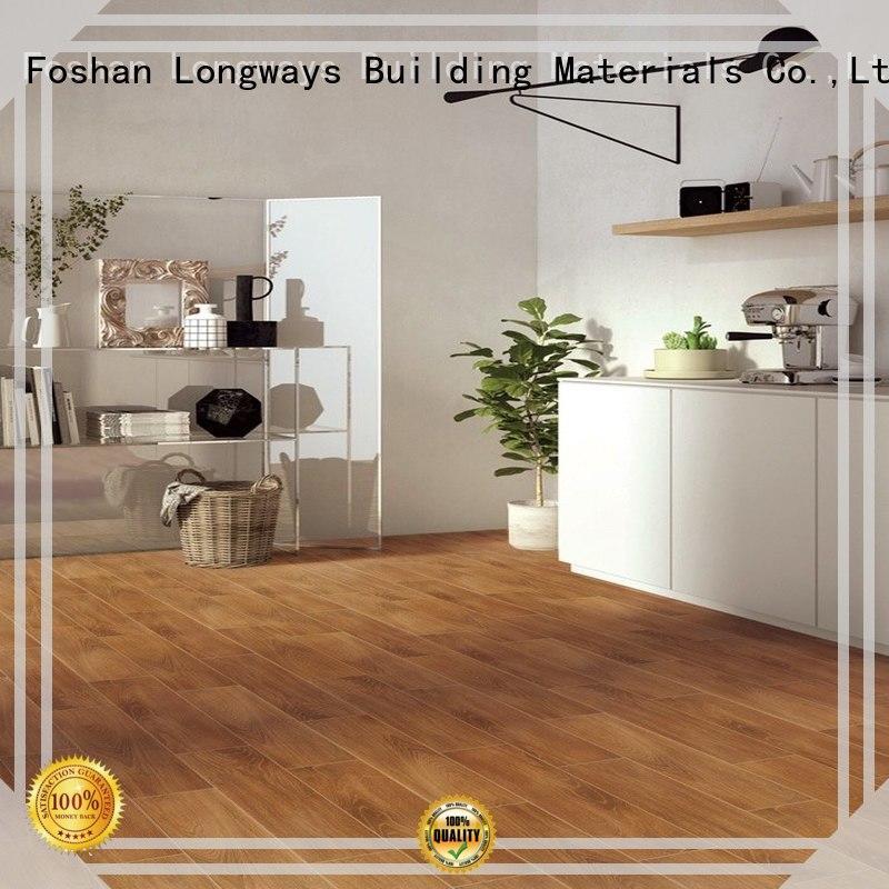 LONGFAVOR incomparable durability porcelain hardwood tile high quality Super Market