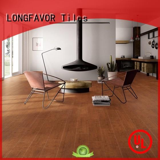 LONGFAVOR suitable distressed wood look tile room150x600mm Shopping Mall