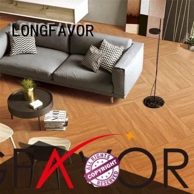 LONGFAVOR bathroom wooden floor tiles price ODM School