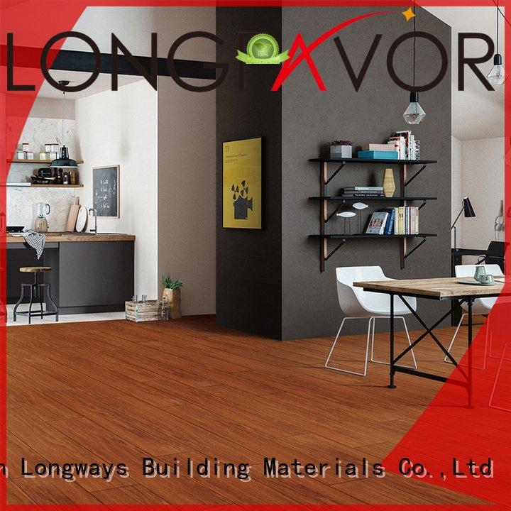 Wholesale ceramic tile flooring that looks like wood LONGFAVOR Brand