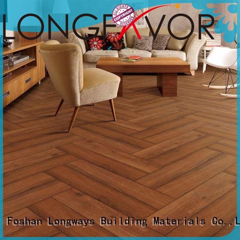 LONGFAVOR ps158006 wood texture floor tiles ODM Hotel