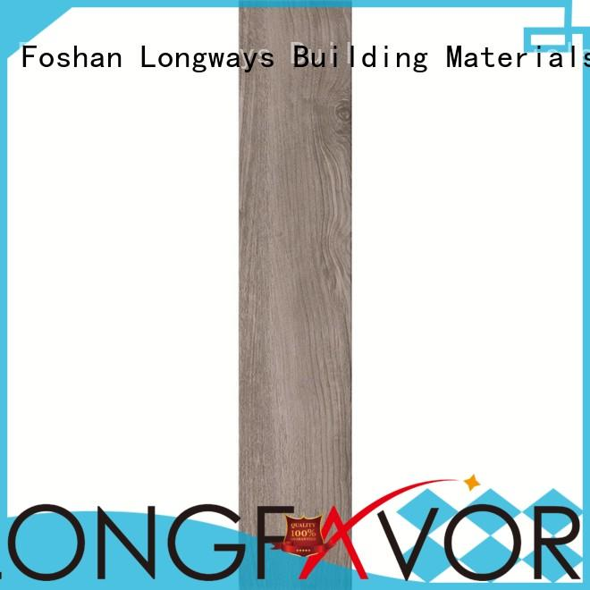 LONGFAVOR Brand spotted trendy wood look tile cost manufacture