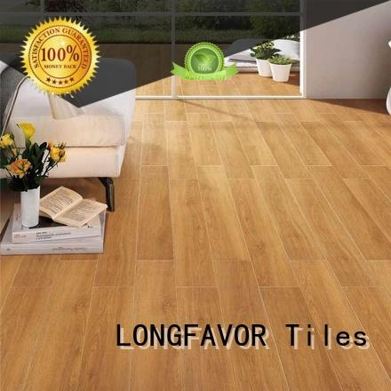 LONGFAVOR dh158r6b16 wooden style floor tiles supplier Hotel
